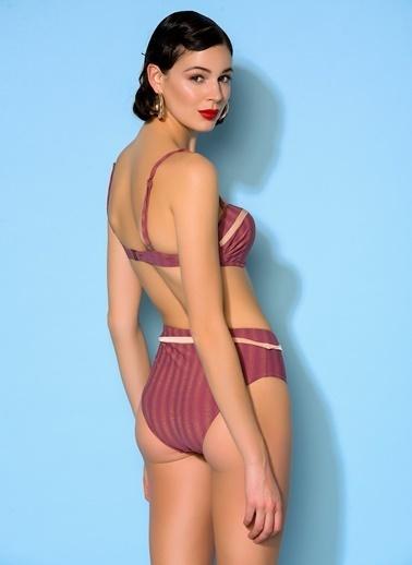 Loves You Destekli Straplez Bikini Takım Pembe